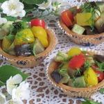 Тарталетки с диким рисом и овощами