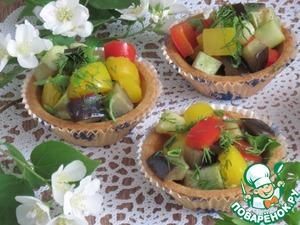 Рецепт Тарталетки с диким рисом и овощами