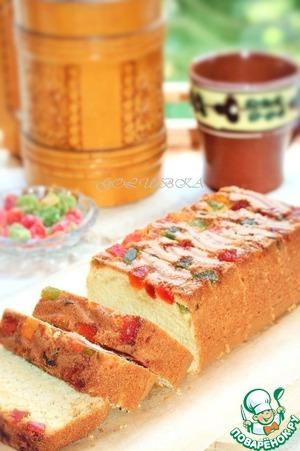 Рецепт Кекс сметанный с цукатами