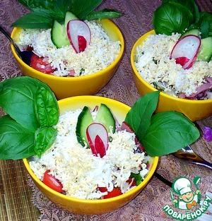Рецепт Салат овощной с диким рисом