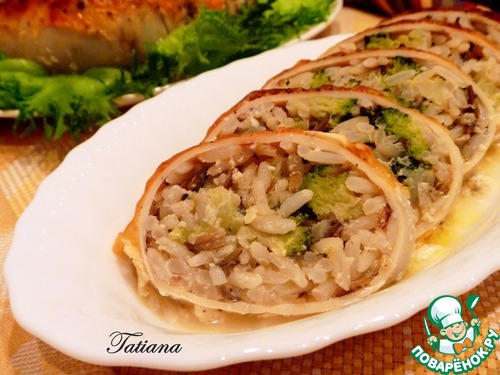 Кальмар фаршированный с рисом рецепт с пошаговым