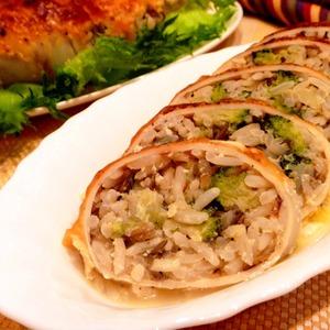 Рецепт Кальмары, фаршированные рисом и брокколи