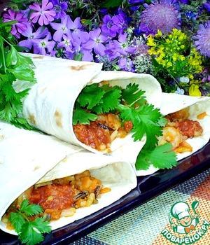 Рецепт Кулёчки с диким рисом и креветками