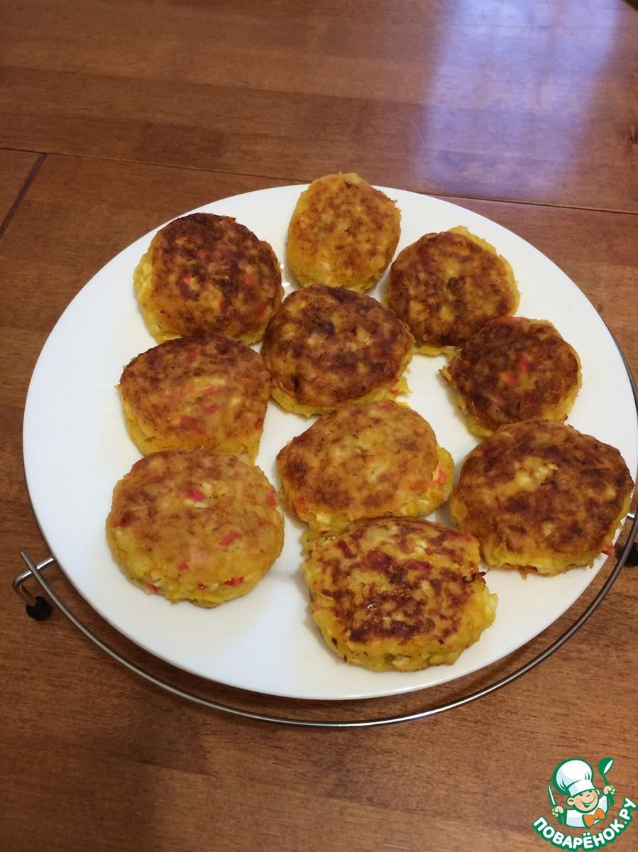 Котлеты с крабовыми палочками и сыром пошагово