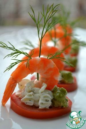 Рецепт Легкая закуска с креветками
