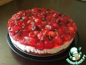 """Рецепт Творожно-ягодный торт """"Летнее лукошко"""""""