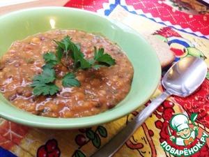 Рецепт Густой горохово-чечевичный суп со свеклой