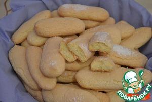 Рецепт Бисквитное печенье Савоярди
