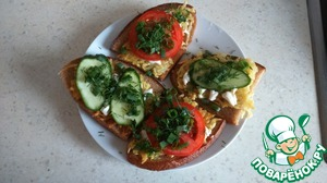 Рецепт Бутерброды с картошкой