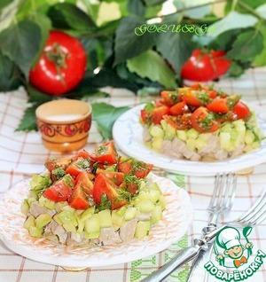 """Рецепт Мясной салат с кабачком и с соусом """"Летний"""""""