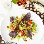 Салат с фаршированными помидорами