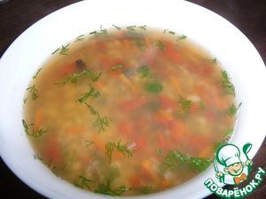 """Рецепт Суп """"Гурман"""" с красной чечевицей и пастой"""
