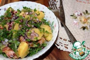 Рецепт Картофельный салат с беконом и стручковой фасолью