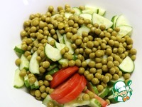 Салат из овощей и зелёного горошка ингредиенты