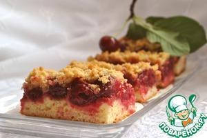 Рецепт Вишневый пирог с корицей