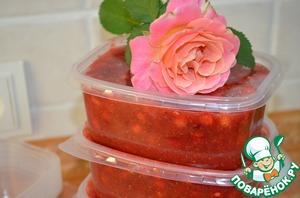 Рецепт Заморозка сладкого соуса из ягод