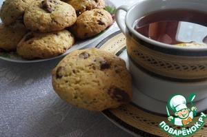 Рецепт Американское печенье с кусочками шоколада
