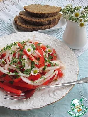 Рецепт Два закусочных салата с маринованным луком