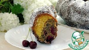 Рецепт Кекс маково-вишневый