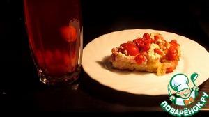 Рецепт Быстрый открытый пирог с творожно-фруктовой начинкой