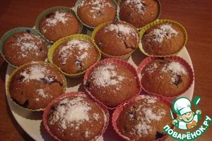 Рецепт Кексы с ягодной начинкой