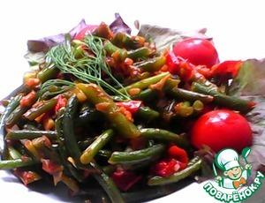 Рецепт Жареные чесночные стрелки с овощами