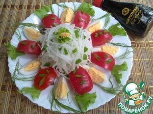 Рецепт Салат овощной с дайконом
