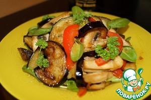 Рецепт Теплый овощной салат с щавелем