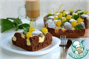 Рецепт Шоколадно-ореховый пирог с творожным кремом