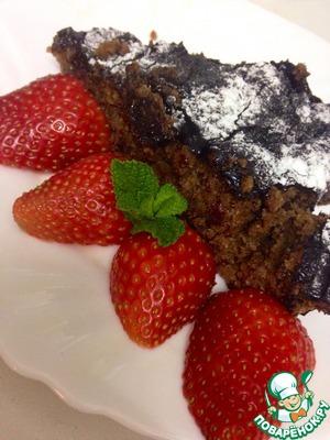 Рецепт Горячий шоколадно-апельсиновый пирог с миндалем