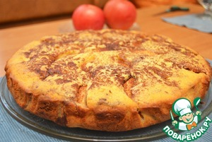 """Рецепт """"Полосатый"""" яблочный пирог"""