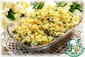 Рецепт Рассыпчатый рис с беконом и шпинатом