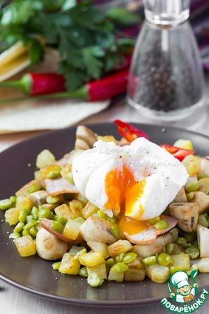 Рецепт Теплый картофельный салат с яйцом пашот