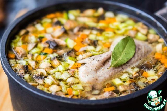 Весенний суп с овощами, перловкой и перепелкой простой пошаговый рецепт с фото как готовить #6