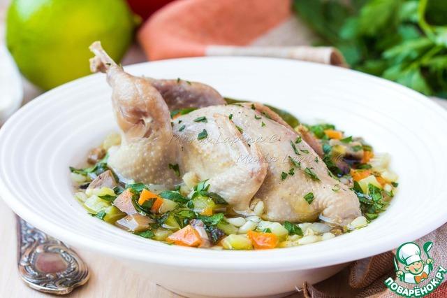 Весенний суп с овощами, перловкой и перепелкой простой пошаговый рецепт с фото как готовить #7