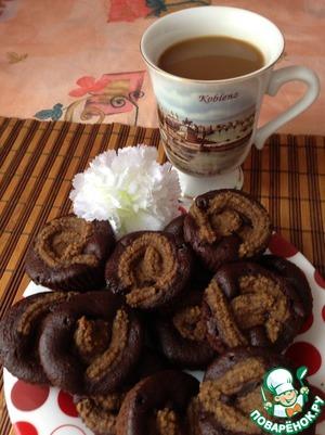 """Рецепт Постные шоколадные маффины с """"сырным"""" кремом"""