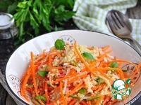 Постный салат из кускуса и овощей ингредиенты