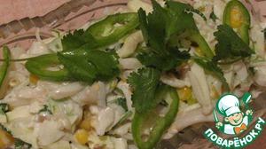 Рецепт Салат с кальмарами и яблоками