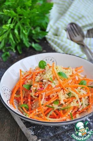 Рецепт: Постный салат из кускуса и овощей