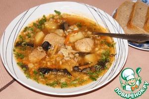 Рецепт Швабский суп со свининой и перловкой
