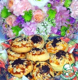 Рецепт Печенье с миндальными лепестками и шоколадом