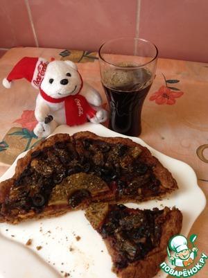 Рецепт Постная пицца с ржаной мукой и цикорием