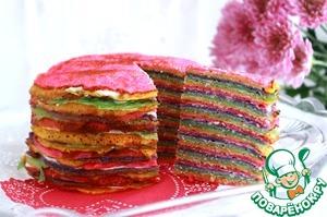 """Рецепт Блинный торт """"Радужный"""""""