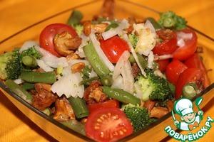 Рецепт Салат с помидорами и грибами