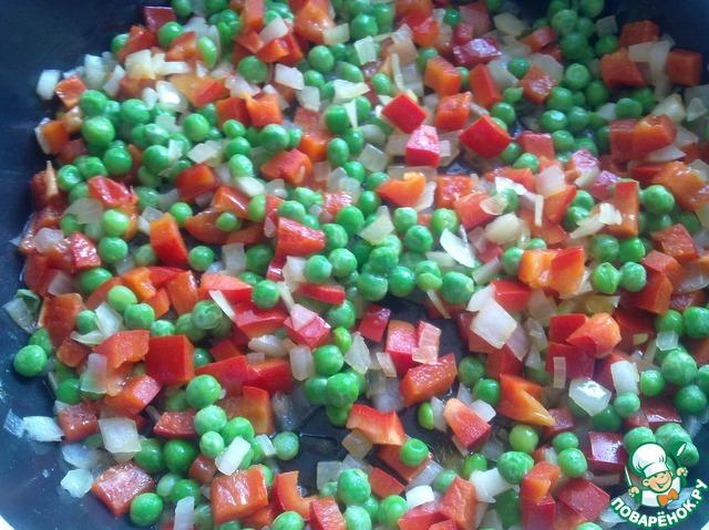 Рис с зеленым горошком и соевым соусом домашний пошаговый рецепт приготовления с фотографиями #5