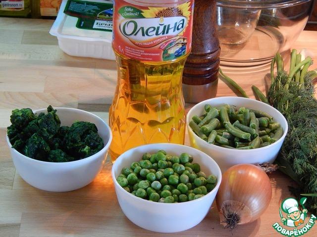 Карри из зеленых овощей с брынзой простой пошаговый рецепт приготовления с фото #1