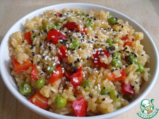 Рис с зеленым горошком и соевым соусом домашний пошаговый рецепт приготовления с фотографиями #9