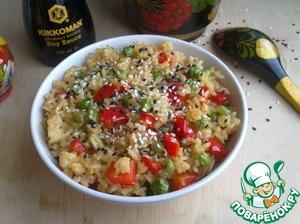 Рис с зеленым горошком и соевым соусом домашний пошаговый рецепт приготовления с фотографиями на Новый Год