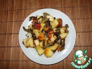 Рецепт Запеченный картофель со стручковой фасолью