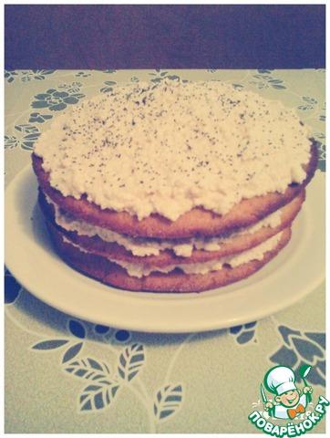 Бисквит для торта с творожным кремом с пошагово